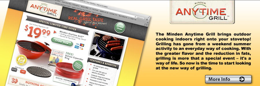 Minden Anytime Grill | AS SEEN ON TV