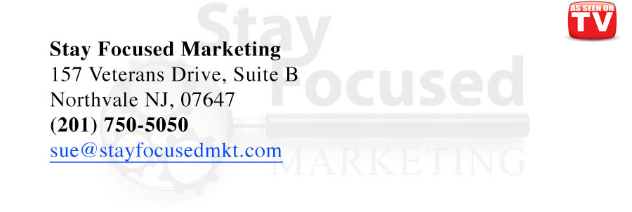 Stay Focused Marketing | AS SEEN ON TV